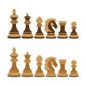 Wooden chess — Stock Vector