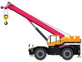 Mobile crane — Stock Vector