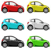 Set cars — Stock Vector