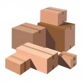 Cardboard boxes — Stock Vector
