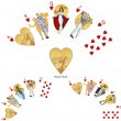 Royal Flush Hearts poker winning combination Mafia card set — Stock Vector #52419341