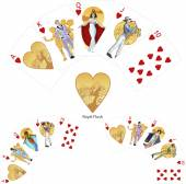 Royal Flush Hearts poker winning combination Mafia card set — Stock Vector