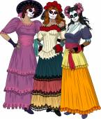 Three Mexican Graces — Stock Vector