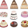 Set of nine cakes — Stock Vector #57610469