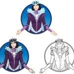 Winter Queen beautiful female character — Stock Vector #67163939