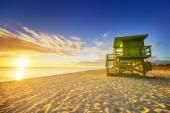 Lever du soleil de Miami south beach — Photo