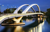 Lyon city and Rhone river — Stock Photo
