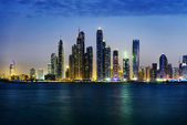 Dubai marina during twilight  — Stock Photo