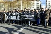LYON, FRANCE - 11 JANUARY 2015: Anti terrorism protest  — Stock Photo