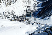 Cablecar to Val d'Isere, — Stock Photo