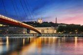 Saone river Lyon, France. — Stock Photo