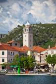 Skradin é uma pequena cidade histórica na croácia — Fotografia Stock
