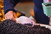 Heidelbeere, die in einem Markt zu verkaufen — Stockfoto