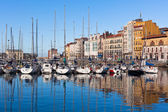 View on Old Port of Gijon and Yachts, Asturias, Northern Spain — Stockfoto