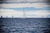 Yat yarışı rüzgarlı havalarda adriyatik denizi — Stok fotoğraf