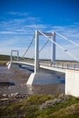 The bridge over Icelandic river Jokulsa a Fjollum — Stock Photo