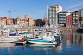 View on Old Port of Gijon and Yachts, Asturias, Northern Spain — ストック写真