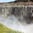 Dettifoss Waterfall in Iceland with rainbow — Stock Photo #57260647