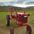 Retro Tractor on the Iceland field — Stock Photo #57260743