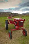 Retro Tractor on the Iceland field — Stock Photo