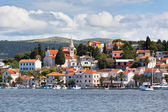 Rogoznica, Croatia view from the sea — 图库照片