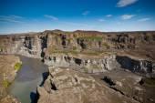 Coast of Icelandic river Jokulsa a Fjollum — Stock Photo
