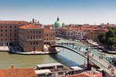 Venice cityscape and The Constitution Bridge — Stock Photo