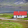 Typical Farm House at Icelandic Fjord Coast — Stock Photo #57891247