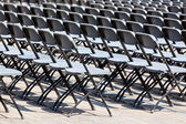 Grandstand Seats rows outdoors — Stock Photo