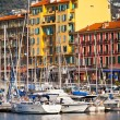 View on Port of Nice and Luxury Yachts, French Riviera, France — Stock Photo #58080929