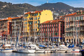 View on Port of Nice and Luxury Yachts, France — Stock Photo