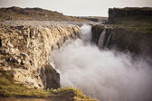 Dettifoss Waterfall in Iceland at overcast weather — Stock Photo