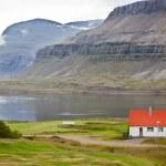 Typical Farm House at Icelandic Fjord Coast — Stock Photo #63079491
