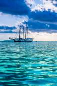 Recreational Yacht at the Indian Ocean — Stock Photo