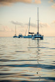 Recreational Yachts at the Indian Ocean — Stock Photo