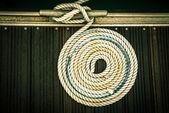 Nautical mooring rope — Stock Photo