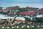 Luchtfoto van Eden Island Mahe, Seychellen — Stockfoto