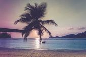Tropical beach at Mahe island Seychelles — Stock Photo