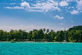 Spiaggia tropicale a Isola di Mahé — Foto Stock