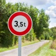 Traffic sign of 3,5 tons weigh restriction — Stock Photo #69989571