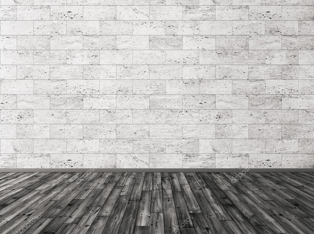 Di pietra piastrelle muro e pavimento in legno nero 3d render ...
