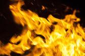 Flames on black — Stock Photo