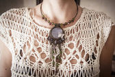 Handmade necklace — Stock Photo