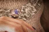 Handmade rings in resin — Stock Photo
