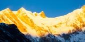 Annapurna Güney peak günbatımı — Stok fotoğraf