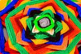 Mandala indien tricoté — Photo