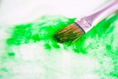 Watercolor painted background with brush — Stock Photo