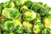 Frozen Brussels sprouts — Stock Photo
