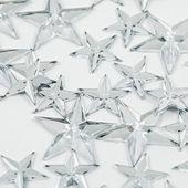 Silver Christmas stars — Stock Photo