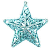 Silver Christmas star — Stock Photo